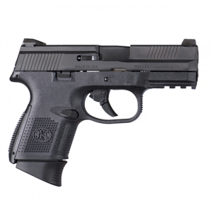 "FN Herstal FNS-9 Compact 9mm 10+1 3.6"" Pistol in Black (No Manual Safety) - 66693"