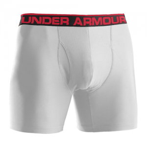 "Under Armour O-Series 6"" Men's Underwear in White - X-Large"