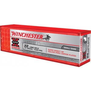 Winchester Super-X .22 Long Rifle Hollow Point, 37 Grain (100 Rounds) - X22LRHSS1