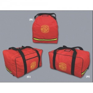 EMI Fire/Rescue Personnel Gear Bag in Red - 852