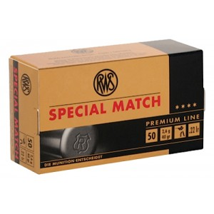 Walther USA SPECIAL MATCH TARGET .22 Long Rifle Lead Round Nose, 40 Grain (50 Rounds) - 2134233