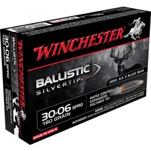 Winchester Supreme .30-06 Springfield Ballistic Silvertip, 180 Grain (20 Rounds) - SBST3006B