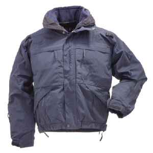 5.11 Tactical 5-in-1 Men's Full Zip Jacket in Dark Navy - 2X-Large
