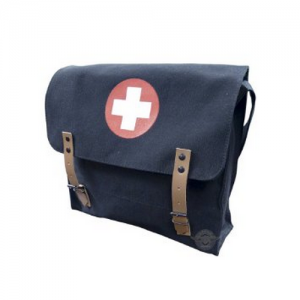 Black German Style Medical Shoulder Bag