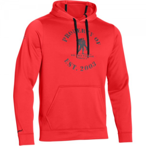 Under Armour Property Of Men's Pullover Hoodie in Rocket Red - Large