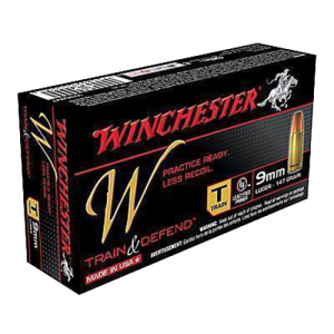 Winchester W Train & Defend 9mm Full Metal Jacket, 147 Grain (50 Rounds) - W9MMT