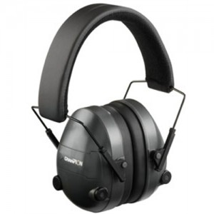 Champion Adjustable Electronic Earmuffs 25dB NRR Black 40974