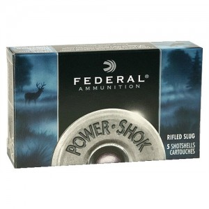 "Federal Cartridge Power-Shok .12 Gauge (2.75"") Slug (Rifled) Lead (5-Rounds) - F127RS"