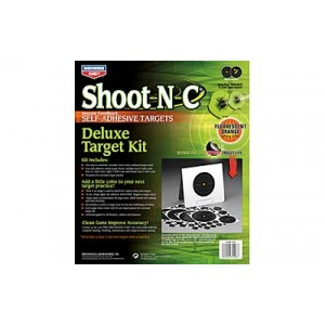 """Birchwood Casey Shoot-n-c Target, Deluxe Variety Kit, 40-1"""" Pasters, 24-2"""", 8-3"""", 4-6"""", 4-8"""" Bullseye Targets, Withtarget Stand 34208"""