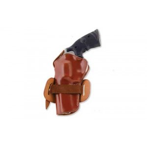 "Galco International Wheelgunner Right-Hand Belt Holster for Ruger Blackhawk in Tan Leather (5.5"") - WG166"