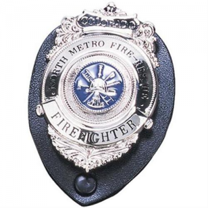 Strong Leather Clip-On Badge Holder in Black Leather - 71210-0002