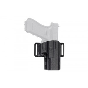 Uncle Mike's Reflex Right-Hand Belt Holster for Ruger SR9, SR9 Compact in Black Kydex - 74141