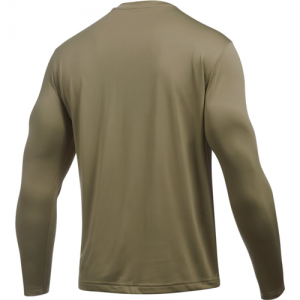 Under Armour Tech Men's Long Sleeve Shirt in Federal Tan - 3X-Large