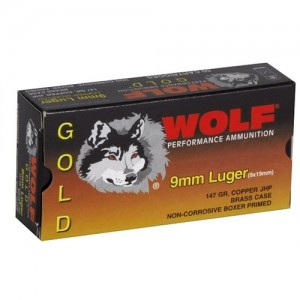Wolf Performance Ammo Gold 9mm Jacketed Hollow Point, 147 Grain (50 Rounds) - G919HP1
