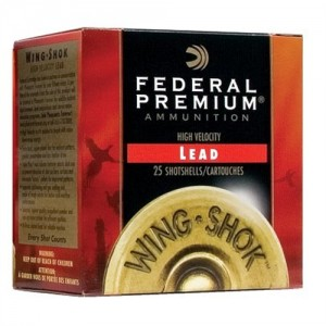 "Federal Cartridge Wing-Shok High Velocity .12 Gauge (2.75"") 6 Shot Lead (250-Rounds) - P1386"
