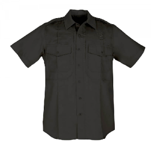 5.11 Tactical PDU Class B Men's Uniform Shirt in Black - Large