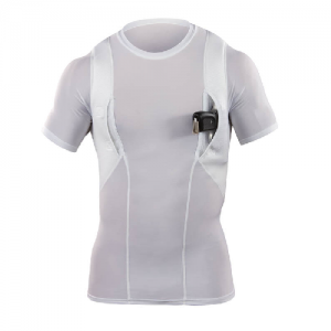 5.11 Tactical Crew Neck Men's Holster Shirt in White - Small