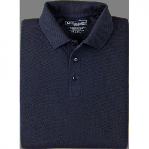 5.11 Tactical Utility Men's Short Sleeve Polo in Dark Navy - X-Small