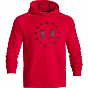 Under Armour Freedom Men's Pullover Hoodie in Rocket Red - Small