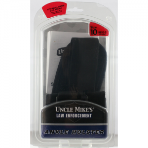 Uncle Mike's Ankle Left-Hand Ankle Holster for Small Autos in Black - 88102
