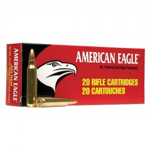 Federal Cartridge American Eagle Target .223 Remington/5.56 NATO Full Metal Jacket, 62 Grain (20 Rounds) - AE223N