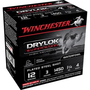 "Winchester Supreme Hi Velocity Waterfowl .12 Gauge (3"") 3 Shot Steel (250-Rounds) - SSH1233"