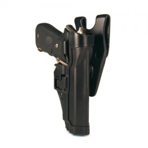 "Blackhawk Serpa Level 2 Left-Hand Belt Holster for Beretta 92 in Matte Black (5"") - 44H004BK-L"
