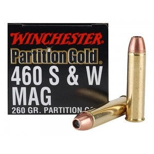 Winchester Supreme .460 S&W Magnum Partition Gold, 260 Grain (20 Rounds) - SPG460SW