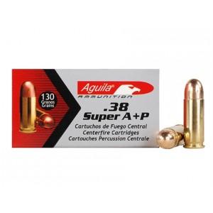 Aguila .38 Super Full Metal Jacket, 130 Grain (50 Rounds) - 1E382112
