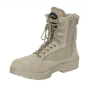 9  Tactical Boots with Zipper Color: Desert Tan Size: 12 Width: Wide
