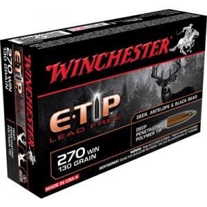 Winchester Supreme .270 Winchester E-Tip Lead-Free, 130 Grain (20 Rounds) - S270WET