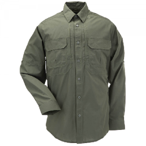 5.11 Tactical Taclite Pro Men's Long Sleeve Uniform Shirt in TDU Green - Small