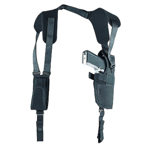"Uncle Mike's Sidekick Left-Hand Shoulder Holster for Large Autos in Black (4.5"" - 5"") - 83052"