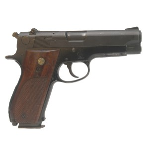 "Pre-Owned Smith & Wesson 39-2 9mm Luger Semi Automatic Pistol with 4"" Barrel, 8+1 Capacity, Plastic Grips and Adjustable Rear Sights"