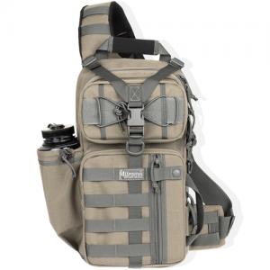 Maxpedition Sitka Gearslinger Waterproof Sling Backpack in Khaki-Foliage 1000D Nylon - 0431KF