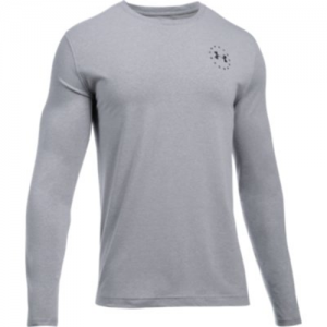 UA Freedom Flag LS T Color: True Gray Heather/Black Size: Large