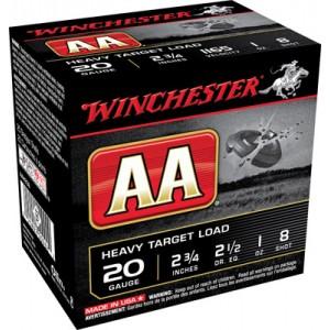 """Winchester AA .20 Gauge (2.75"""") 7.5 Shot Lead (250-Rounds) - AAH207"""