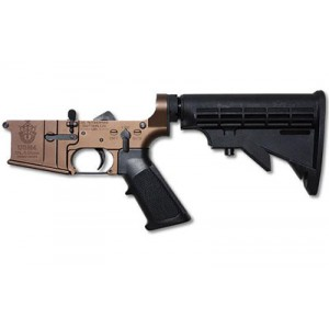 Us Autoweapons Lower, Special Forces, Semi-automatic  223 Rem/556nato, 6 Position Stock, Tan Finish, Certified Special Forces Logo Usm456sft