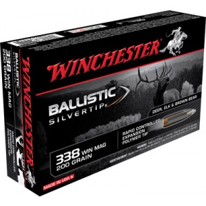 Winchester .338 Winchester Magnum Ballistic Silvertip, 200 Grain (20 Rounds) - SBST338