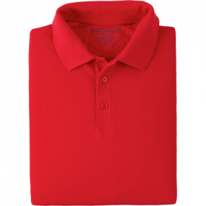 5.11 Tactical Professional Men's Short Sleeve Polo in Range Red - Medium
