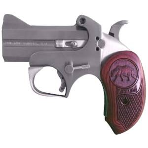 """Bond Arms Brown Bear CA Compliant .45 Colt 2-Shot 3"""" Derringer in Stainless - CABR"""