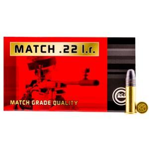 GECO 235940050 22LR 22 Long Rifle Match 40 GR 50 Bx/100 Cs