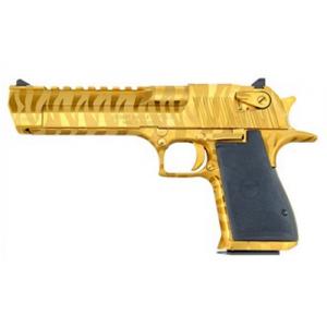 "Magnum Research Desert Eagle .357 Remington Magnum 9+1 6"" Pistol in Titanium Gold W/Tiger Stripes - DE357TG-TS"