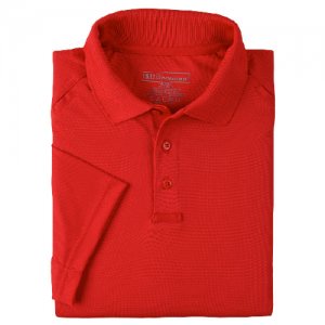 5.11 Tactical Performance Men's Short Sleeve Polo in Range Red - X-Small