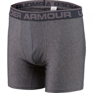 "Under Armour O-Series 6"" Men's Underwear in Carbon Heather - Small"