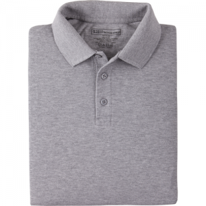 5.11 Tactical Professional Men's Short Sleeve Polo in Heather Grey - 2X-Large