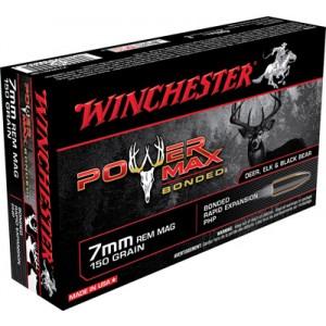 Winchester Super-X 7mm Remington Magnum Power Max Bonded, 150 Grain (20 Rounds) - X7MMR1BP