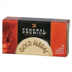 Federal Cartridge Gold Medal .22 Long Rifle Solid, 40 Grain (50 Rounds) - 719