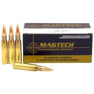 Magtech Ammunition Sport Shooting .308 Winchester Full Metal Jacket, 150 Grain (50 Rounds) - 308A