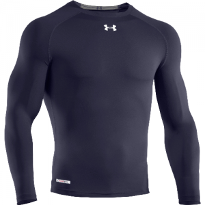 Under Armour HeatGear Sonic Men's Long Sleeve Compression Tee in Midnight Navy - Large